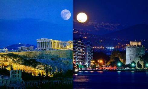 Acropolis via www.seemous.eu, Thessaloniki via http://www.gtp.gr/